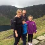 Hindle family climb Mt Snowdon