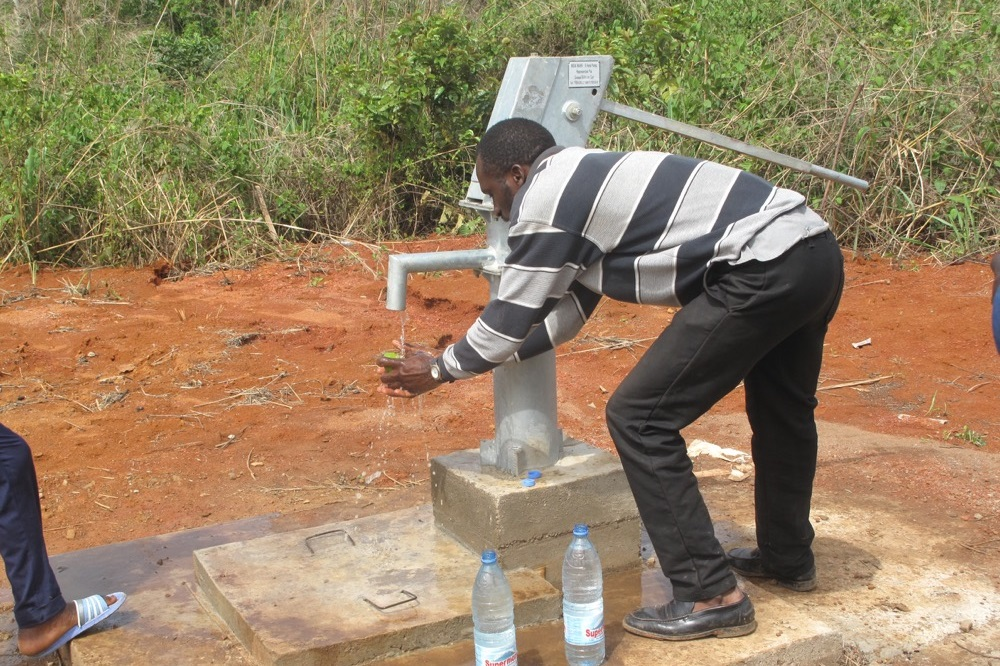 £8,800 will construct a borehole, provinding drinking water for a whole community