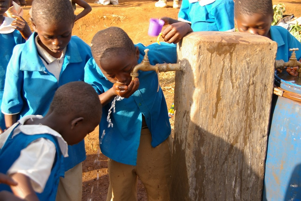 £1000 helps install clean drinking water at a school
