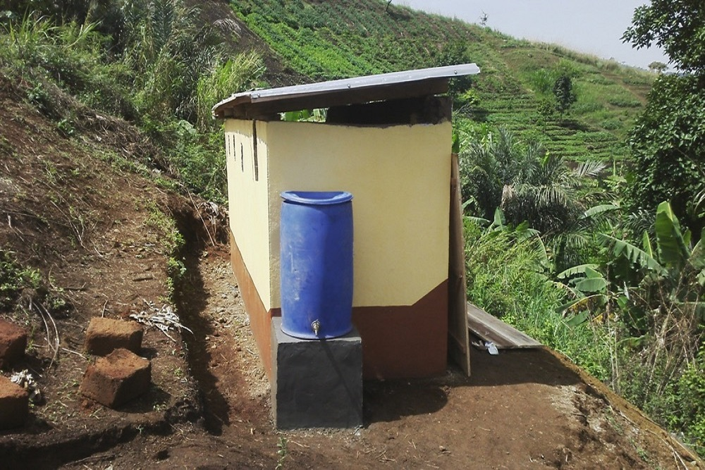 latrine with handwashing facilities