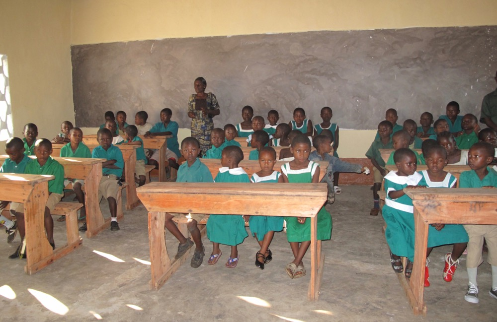 classrooms,benches and blackboards