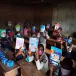Chinde kids with books