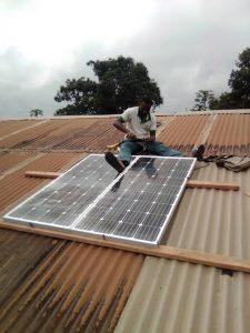 fitting the solar panels