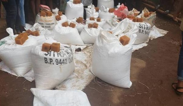 rice and soap for IDPs