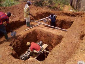 deux nouvelles latrines à fosse