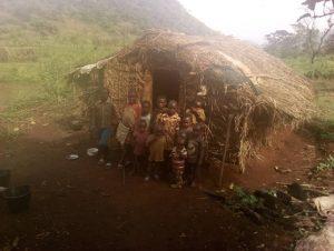 kids outside shelter