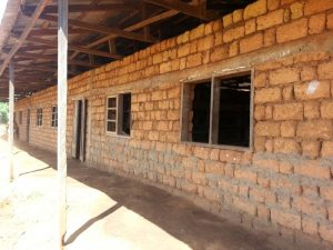 No windows or doors in the classrooms currently in use