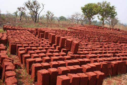 sun-dried mud blocks